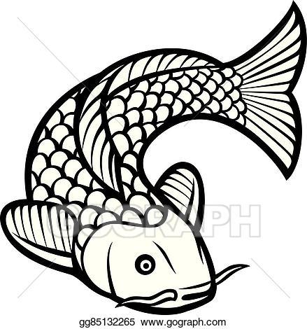Asian cart clipart jpg transparent Vector Art - Koi fish. Clipart Drawing gg85132265 - GoGraph jpg transparent