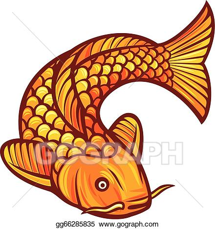 Asian cart clipart picture library Vector Art - Koi fish. Clipart Drawing gg66285835 - GoGraph picture library