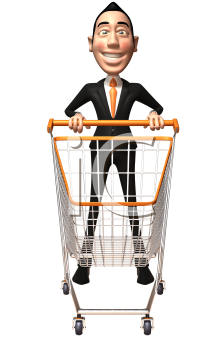 Asian cart clipart svg library download Royalty Free 3d Clipart Image of an Asian Businessman Pushing a ... svg library download