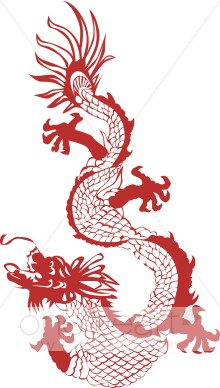 Asian dragon clipart jpg royalty free stock Chinese Dragon Clipart | Summer Wedding Clipart jpg royalty free stock