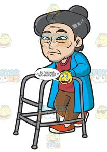 Asian elderly clipart picture freeuse stock An Old And Weak Asian Woman picture freeuse stock
