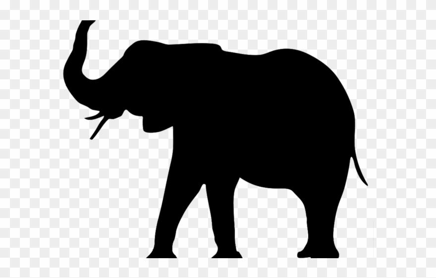 Asian elephant clipart clipart royalty free library Asian Elephant Clipart Huge Elephant - Elephant Silhouette Trunk Up ... clipart royalty free library