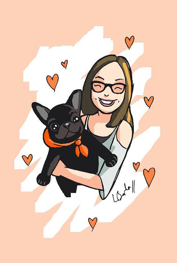 Asian girl hugging dog clipart vector transparent stock Custom Pet and Owner Portrait Dog Cartoon Cute Illustration Drawing ... vector transparent stock
