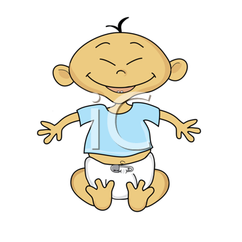 Asian grandparents clipart svg black and white Royalty Free Clipart Image of a Smiling Baby | New Baby Clipart ... svg black and white