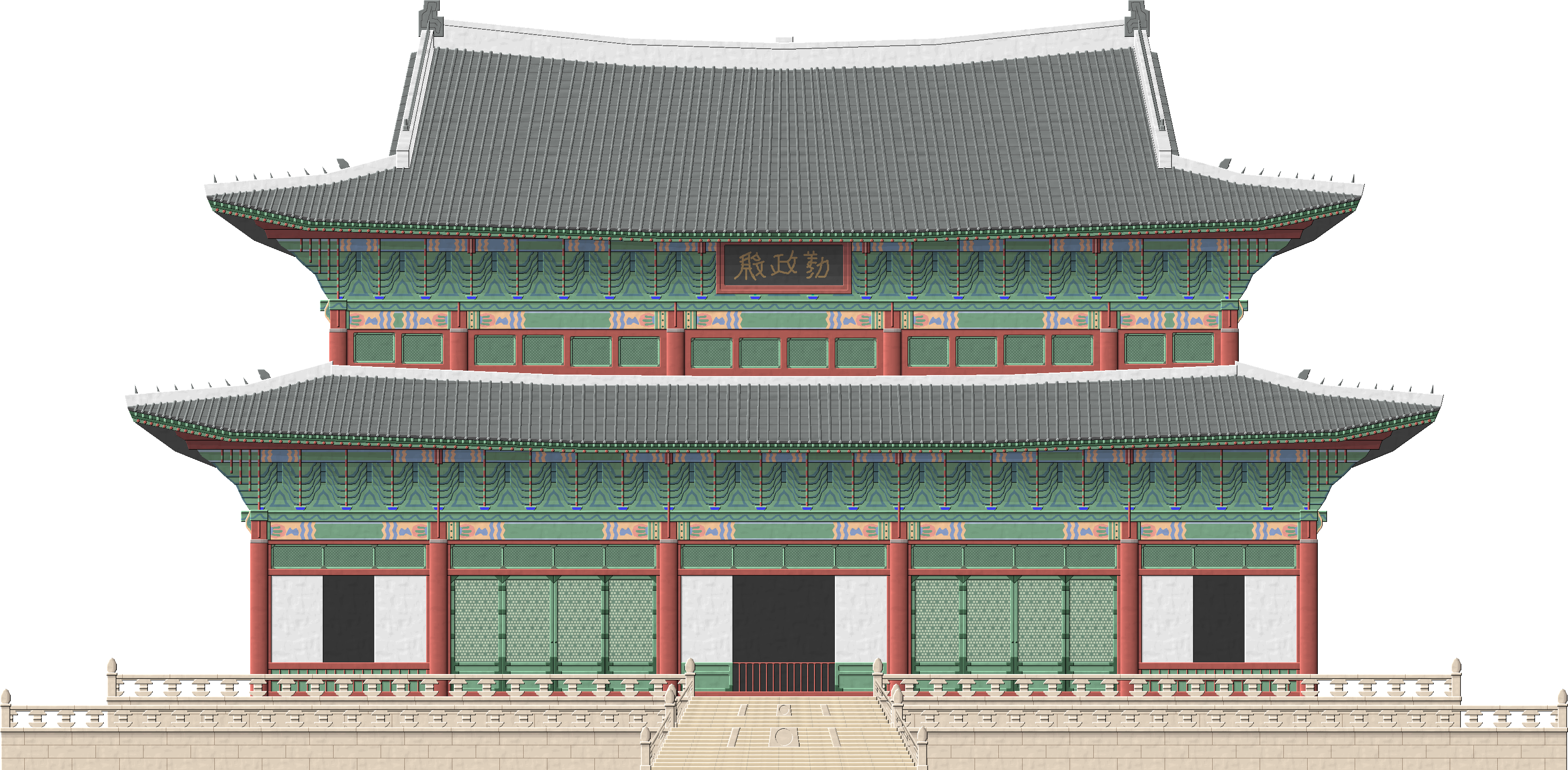 Asian house clipart vector transparent library Changdeokgung Palace by Herbertrocha on DeviantArt, transparent ... vector transparent library