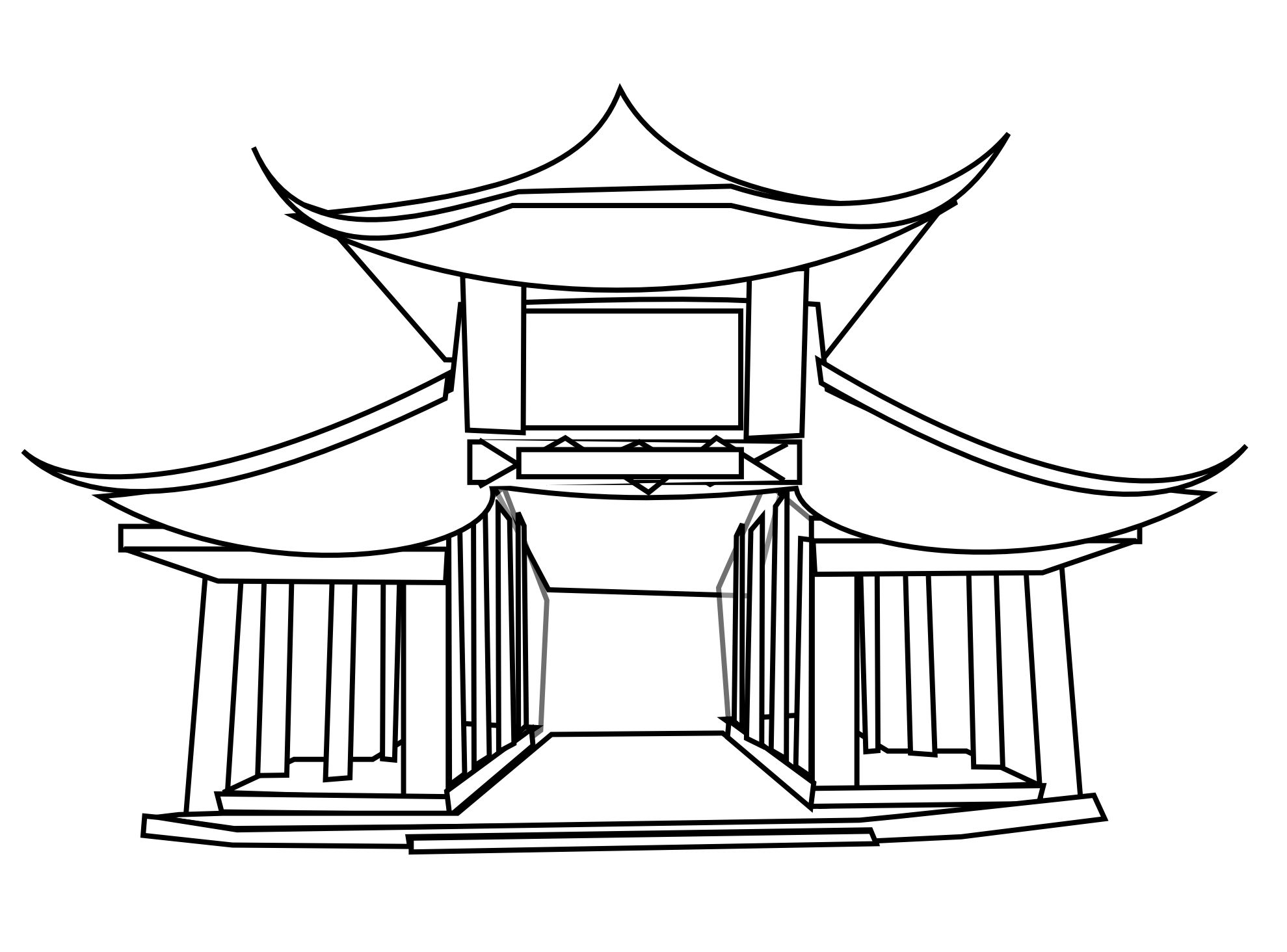 Asian house clipart clipart freeuse stock 28+ Collection of Asian Architecture Drawing | High quality, free ... clipart freeuse stock