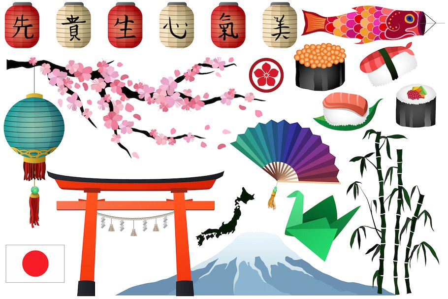 Asian market clipart freeuse download Japanese & Asian Clipart Vector, PNG freeuse download