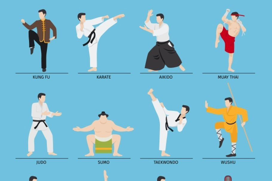 Asian martial arts clipart black and white banner transparent Asian martial arts vector banner transparent