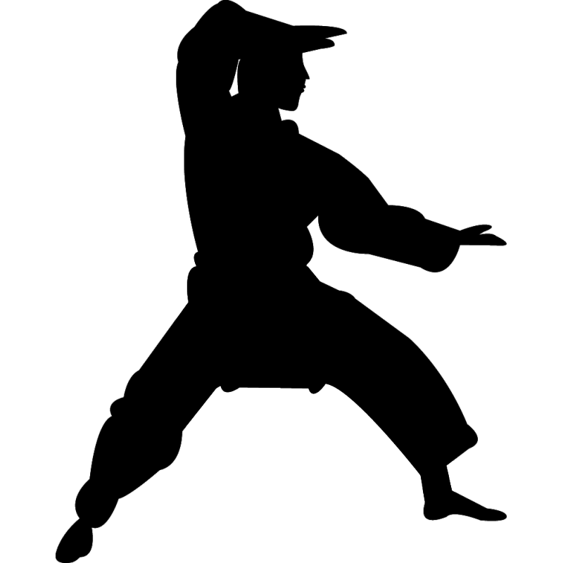 Asian martial arts clipart black and white clip free library Chinese martial arts Karate Silhouette Kata - karate png download ... clip free library