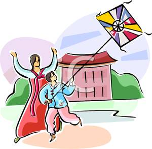Asian mom clipart graphic transparent An Asian Mother and Son Flying a Kite - Royalty Free Clipart Picture graphic transparent