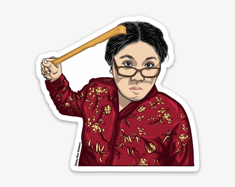 Asian mom clipart image royalty free library Angry Asian Mom - 596x575 PNG Download - PNGkit image royalty free library