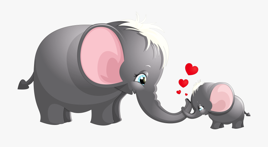 Mother and baby animals cartoon clipart for kids clipart freeuse download Transparent Cute Mom And Kid Elephant Cartoon Picture - Clipart ... clipart freeuse download