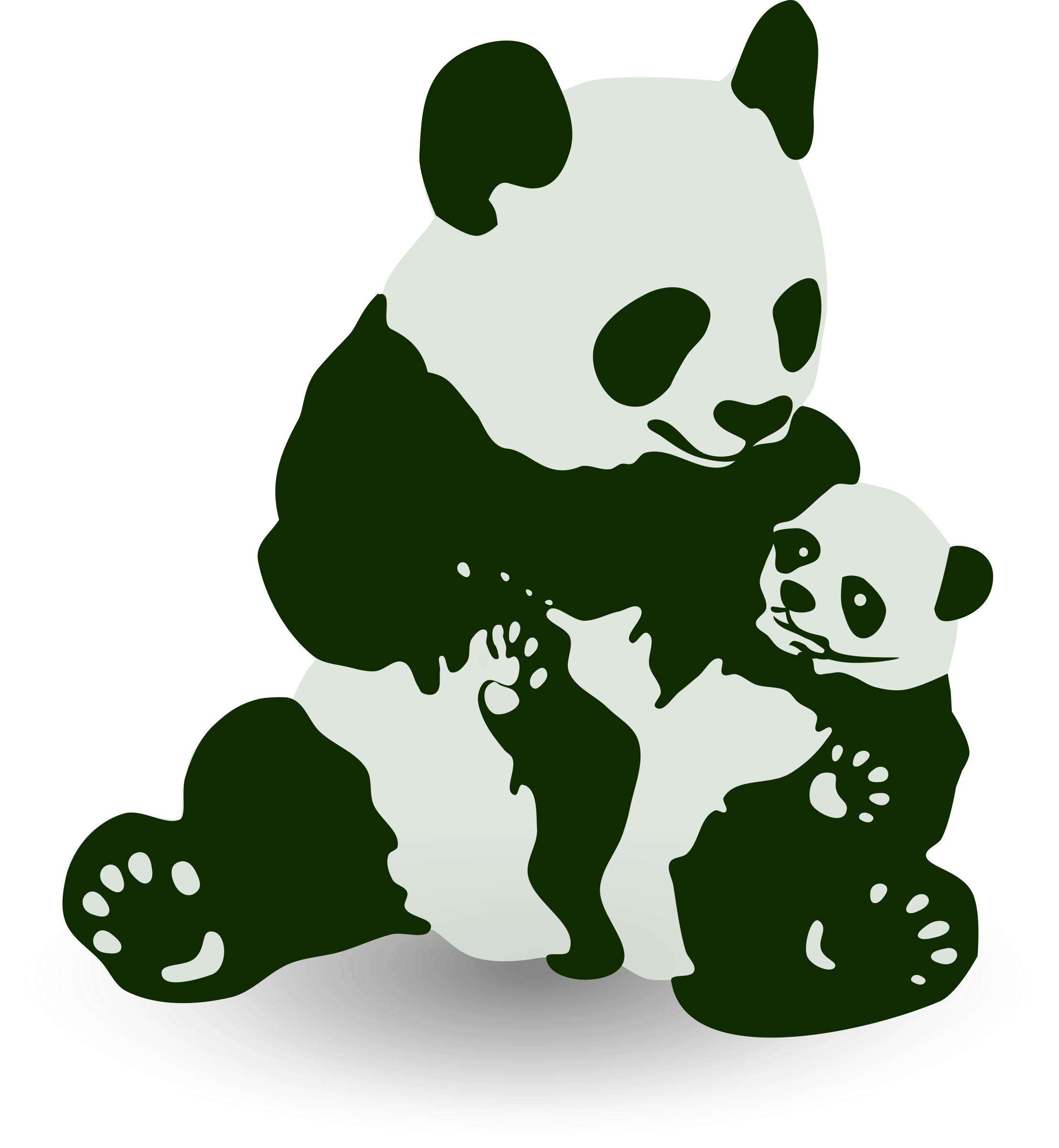 Asian panda mom with baby panda clipart picture graphic royalty free stock Free Baby Panda Cliparts, Download Free Clip Art, Free Clip Art on ... graphic royalty free stock