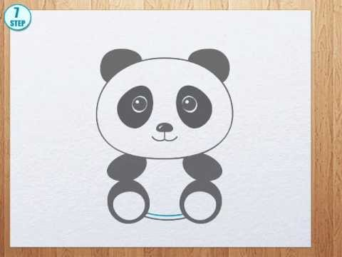 Asian panda mom with baby panda clipart picture vector royalty free library How to draw a panda bear vector royalty free library