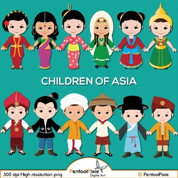 Unity among kids clipart black and white cartoon svg black and white Children of Asia clipart, Asian kids, Children, Unity clipart ... svg black and white