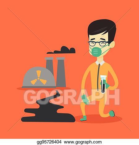Asian scientist clipart graphic transparent download Vector Illustration - Laboratory assistant with test tube. EPS ... graphic transparent download