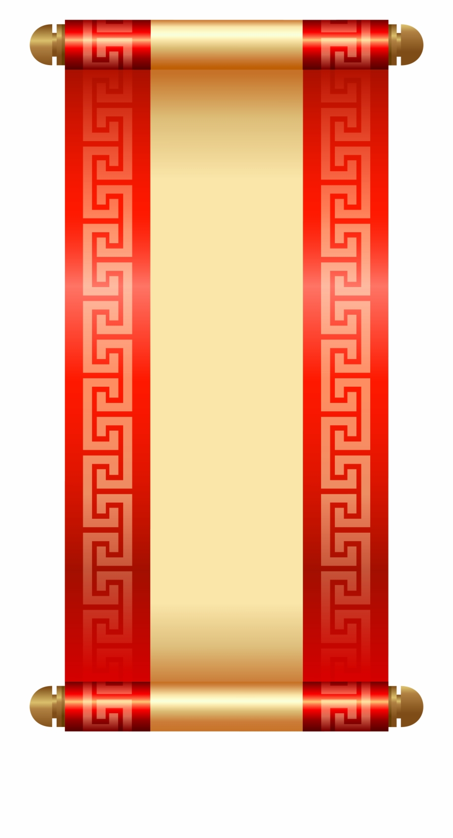 Asian scroll clipart vector free library Chinese Scroll Png Clip Art - Chinese Png, Transparent Png Download ... vector free library