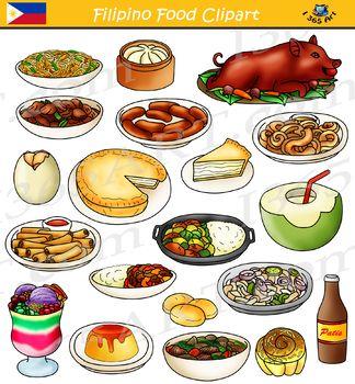 Asian snacks clipart