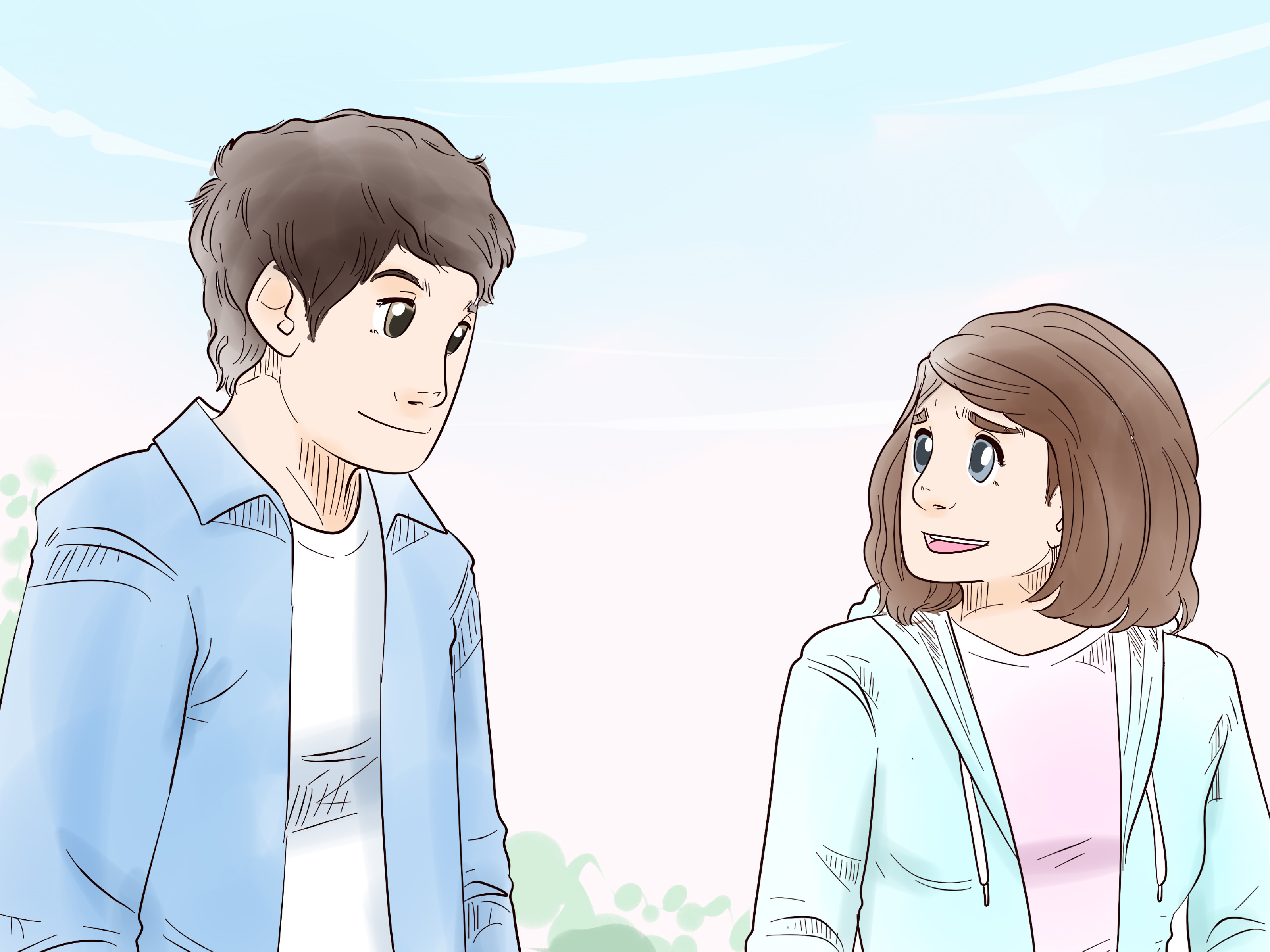 Girl and boy waiting in line clipart banner black and white stock Easy Ways to Ask a Girl to Be Your Girlfriend - wikiHow banner black and white stock