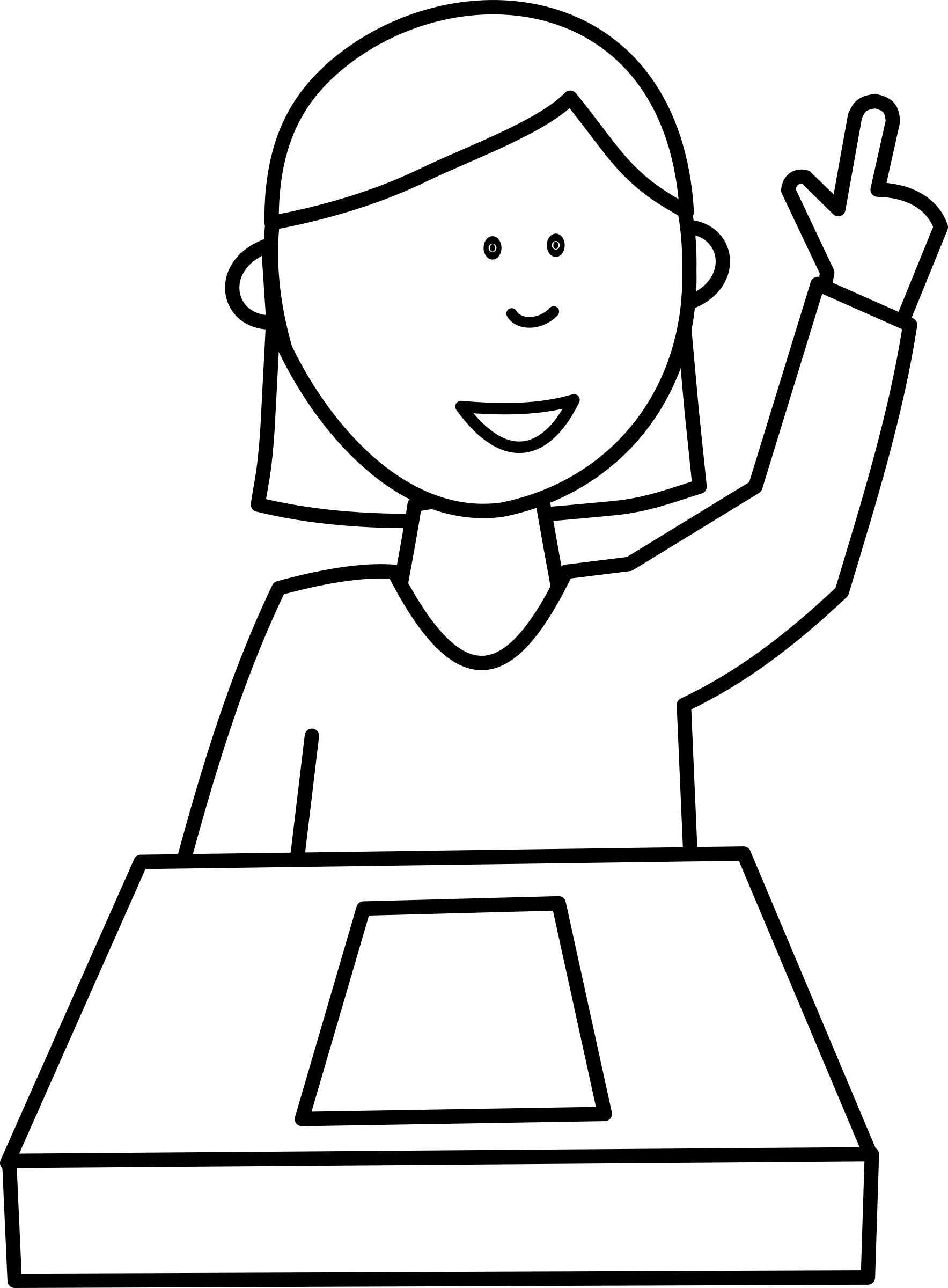 Ask for a book clipart image library download Clipart - Élève posant une question / Student asking a question image library download