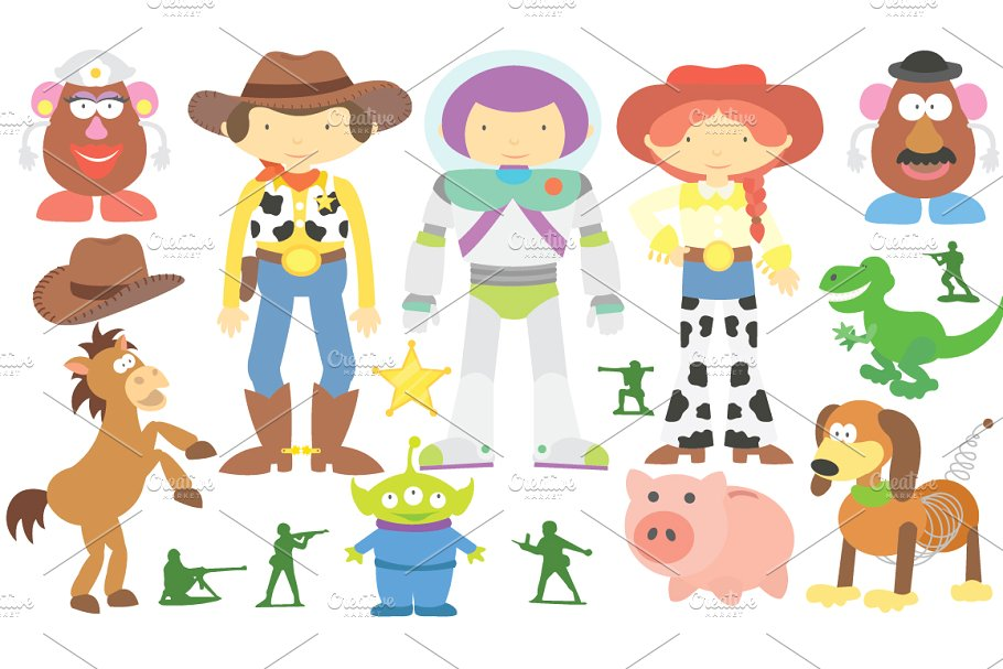 Clipart toy story graphic royalty free download Toy Story Clipart Set graphic royalty free download