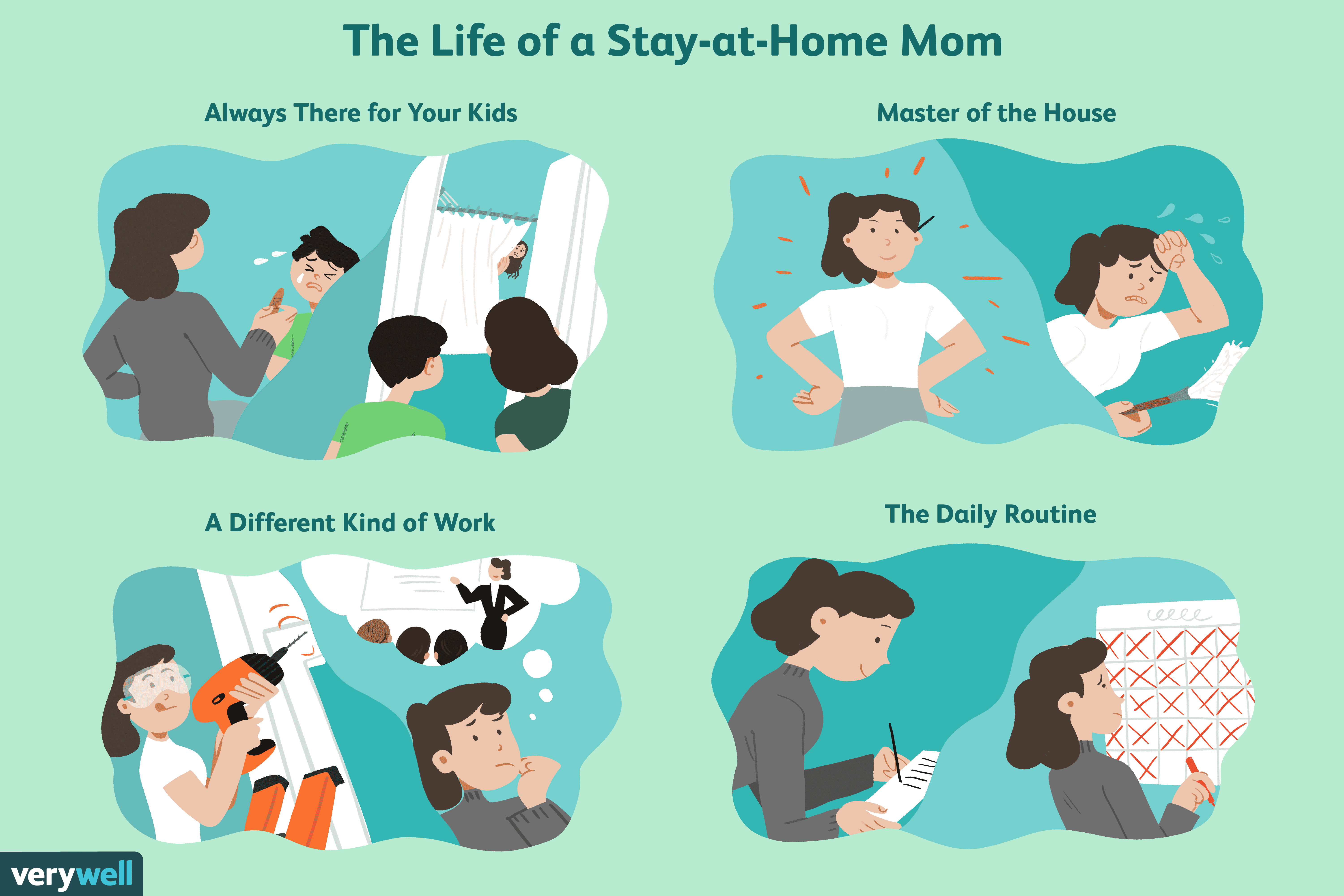 Giving up a chair for parent clipart stock 10 Pros and Cons of Being a Stay-at-Home Mom stock