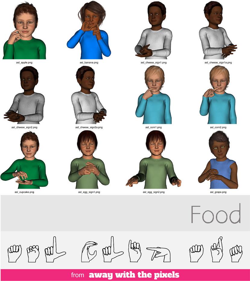 Asl children clipart jpg free ASL Clipart - Food - Sign Language Clip Art for Teachers jpg free