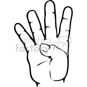 Asl sign clipart jpg transparent stock ASL sign language 4 clipart illustration . Royalty-free clipart # 391653 jpg transparent stock