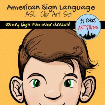 Sign language clipart dictionary clip transparent ASL Clip Art Mega Bundle - American Sign Language Pack | ASL art ... clip transparent