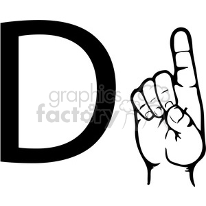 Asl d clipart picture library ASL sign language D clipart illustration worksheet . Royalty-free clipart #  392303 picture library