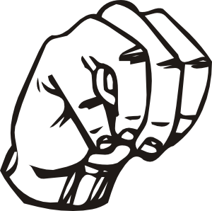 Asl d clipart svg transparent download Sign Language M Clip Art at Clker.com - vector clip art online ... svg transparent download