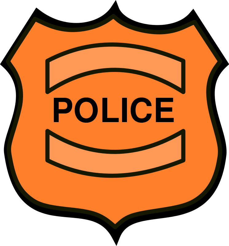 I download clip art. Free police badge clipart with no background