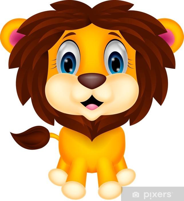 Aslan resmi clipart png library library Duvar Resmi Sevimli aslan karikatür - Vinil png library library
