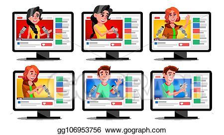 Asmr clipart graphic stock Vector Art - Asmr blogger channel set vector. whisper. insomnia ... graphic stock