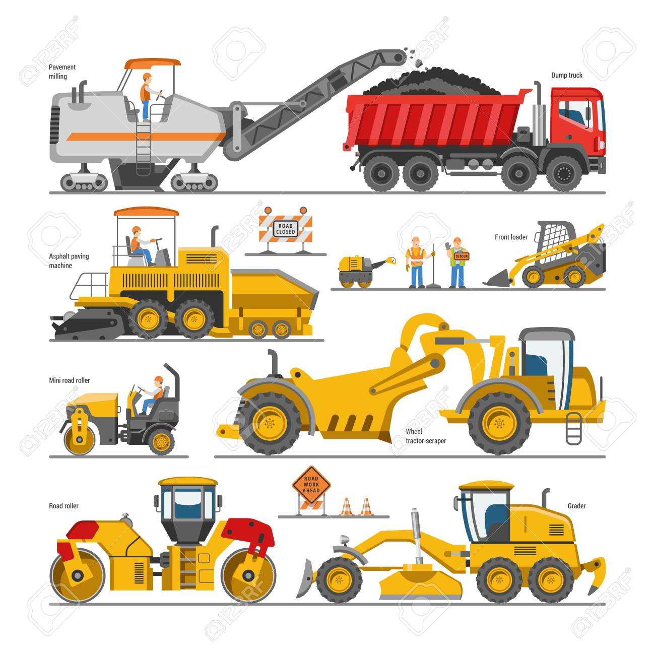 Asphalt repair clipart jpg free Free Excovator Clipart road repair, Download Free Clip Art on Owips.com jpg free