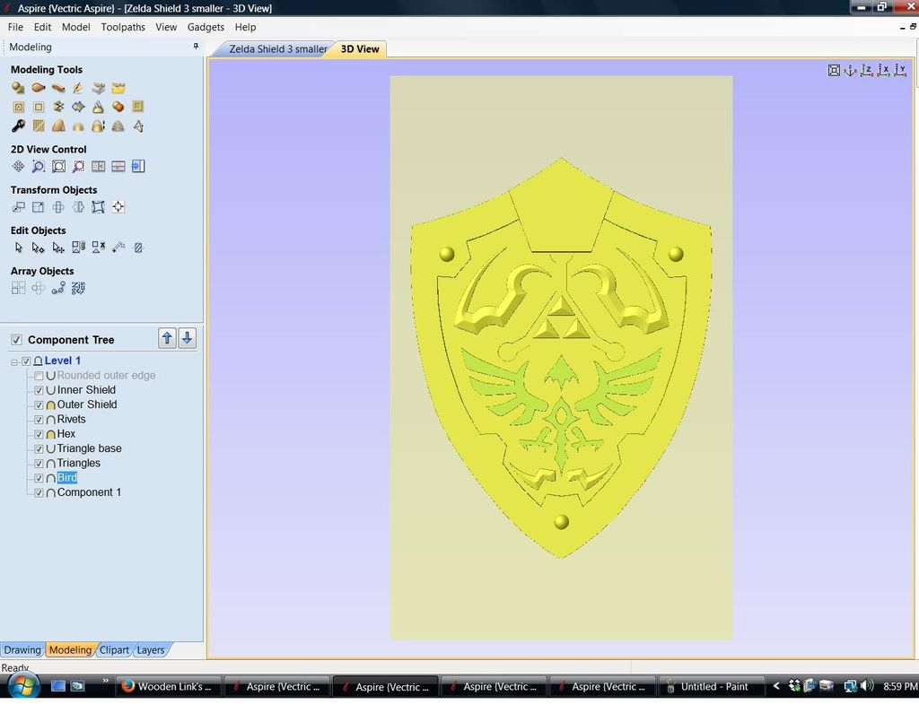 Aspire 9 shield clipart graphic transparent Wooden Link\'s Shield From Zelda: 15 Steps (with Pictures) graphic transparent
