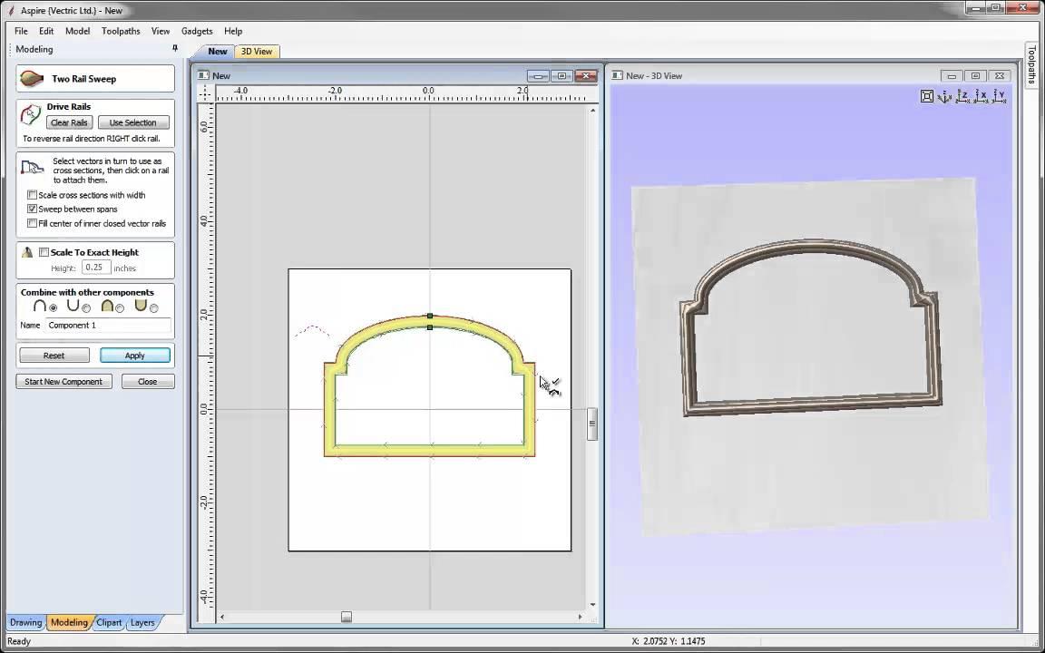 Aspire v9 clipart missing clip art freeuse library Vectric Tips & Tricks - Modeling a Frame Part 2 clip art freeuse library