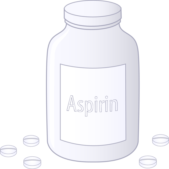 Aspirin clipart picture Bottle of Aspirin Tablets - Free Clip Art picture