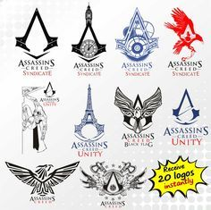 Assassin s creed clipart image black and white stock Pin by Norma Hansen on Joshua\'s wish board | Assassins creed tattoo ... image black and white stock