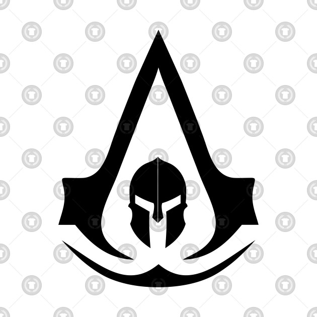 Assassin-s creed odyssey clipart banner transparent assassins creed odyssey black logo banner transparent