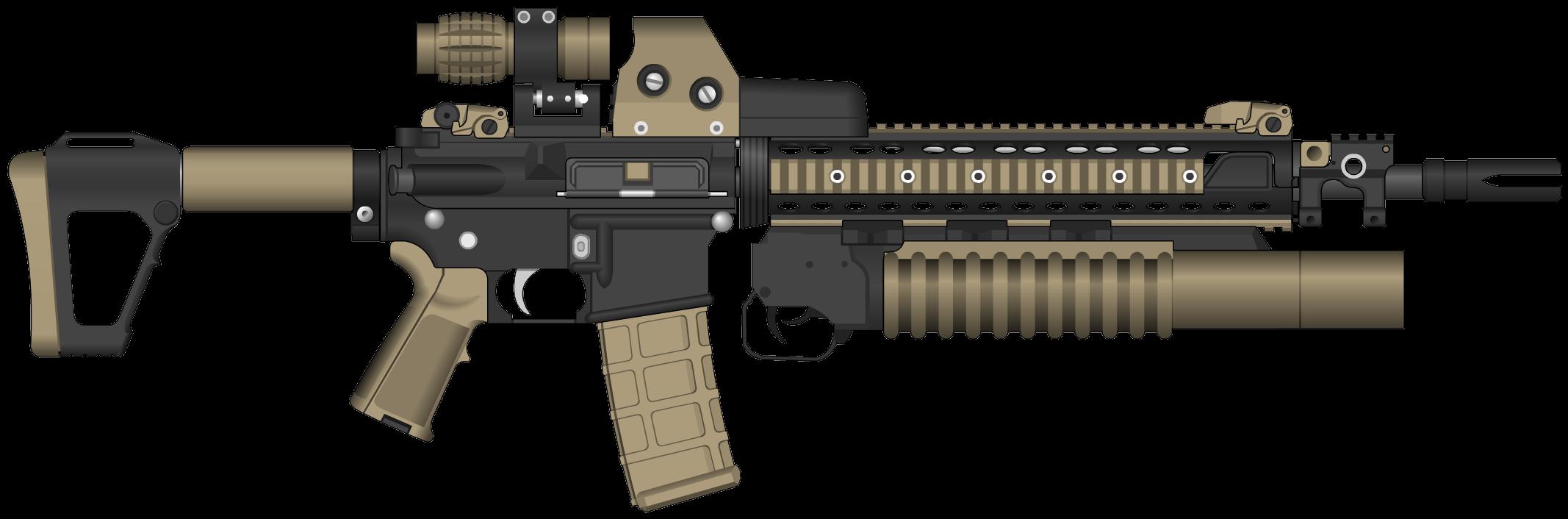 Assault rifle clipart transparent vector transparent stock Assault Rifle Clipart PNG Image - PurePNG | Free transparent CC0 PNG ... vector transparent stock