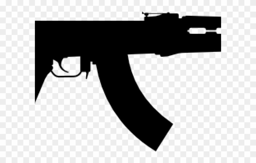 Assault rifle clipart transparent clipart transparent Rifle Clipart Ak47 - Ak 47 Art Png Transparent Png (#1060853 ... clipart transparent