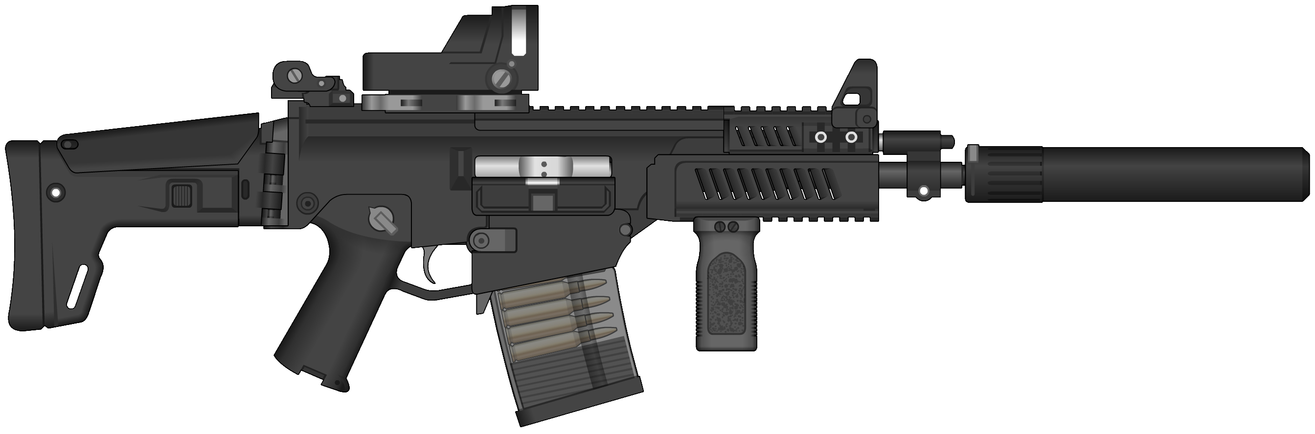 Clipart assault rifle image black and white download Assault Rifle Clipart PNG Image - PurePNG | Free transparent CC0 PNG ... image black and white download