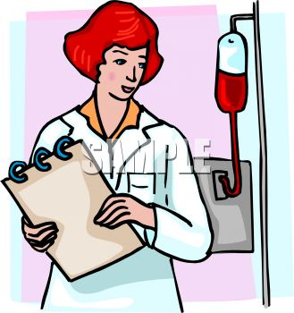 Assessing a patient clipart