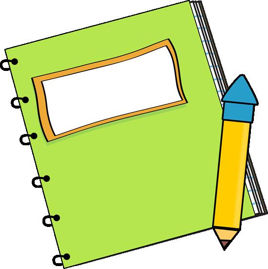 Clipart journal svg freeuse Homework Notebook Clipart & Free Clip Art Images #3253 ... svg freeuse