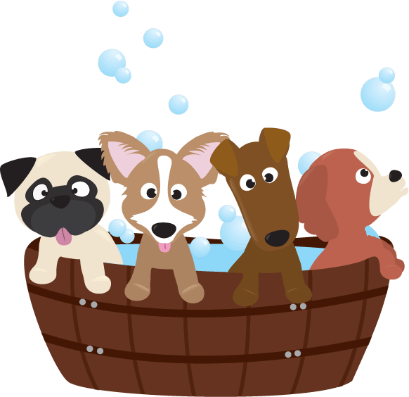 Washing dog clipart svg royalty free stock The Ultimate Guide to Dog Cleaning and Grooming svg royalty free stock
