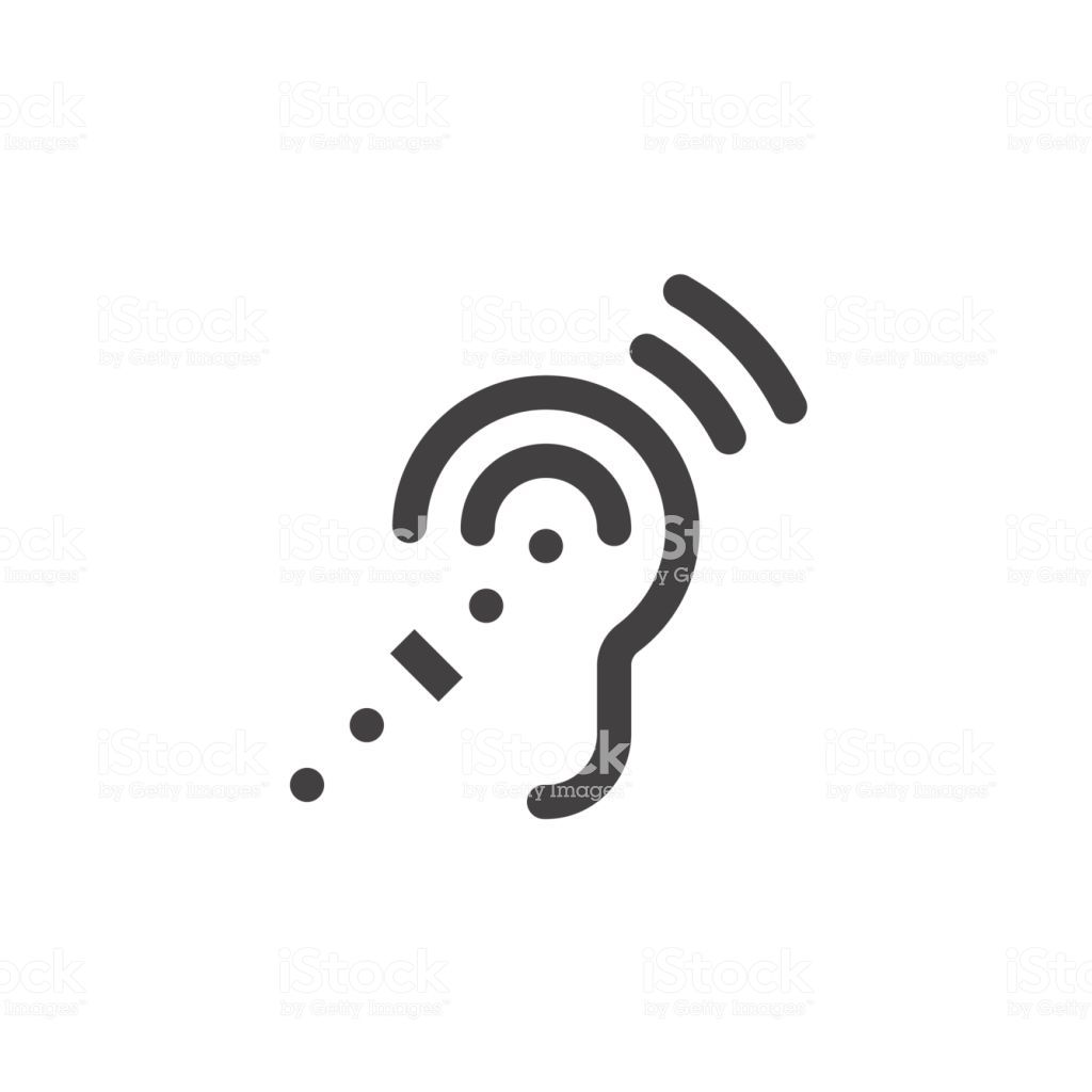 Assistive listening icon clipart jpg royalty free download Assistive Listening Systems Symbol. deafness line icon, outline ... jpg royalty free download
