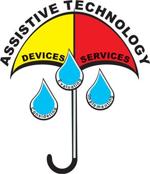 Assistive technology clipart picture black and white download assistive technology learning | Assistive Technology umbrella ... picture black and white download