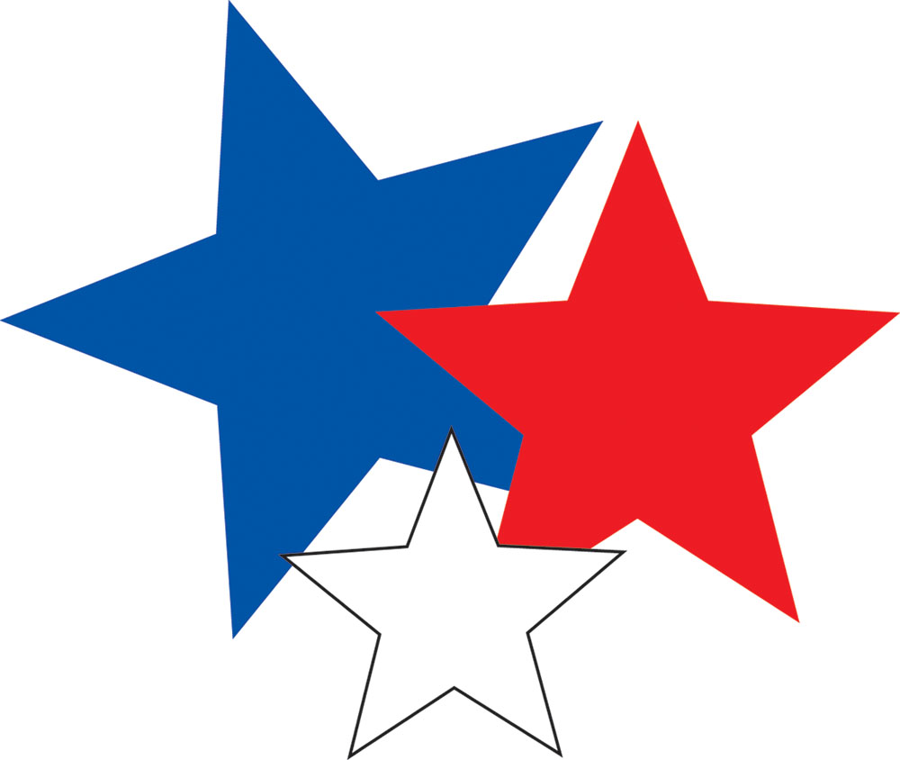 Rustic red white and blue star clipart black and white library Free Pictures Of Red Stars, Download Free Clip Art, Free Clip Art on ... black and white library