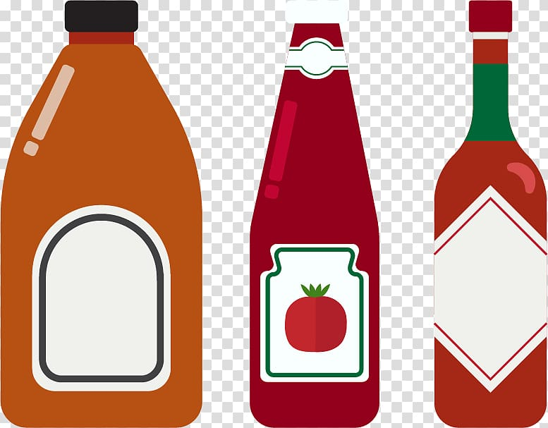 Tomato next to glasses clipart clip art royalty free library Three assorted labeled bottles illustration, Ketchup Sauce Bottle ... clip art royalty free library